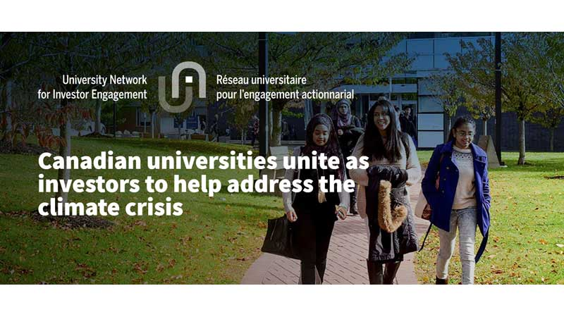 Canadian universities unite as investors to help address the climate crisis